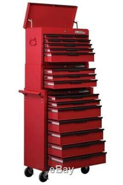 Hilka Tool Chest Trolley Set De Rangement Pour Outils À 19 Tiroirs Box Cabine Roulante Cabine Roues