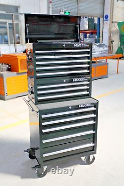 Hilka Tool Cost Trolley Set 17 Tiroir Black Mobile Rangement Roll Cab Cabinet