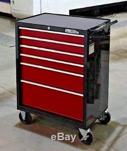 Hilka Tool Trolley Chest Rouge Noir Boîte De Rangement À 6 Tiroirs