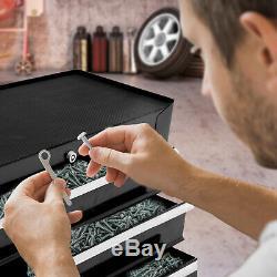 Homcom 5 Tiroirs De Rangement En Acier Verrouillables Outil Roues Poignée 2 Black Keys