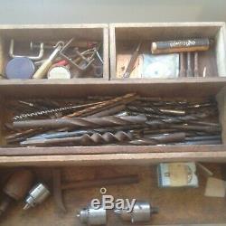 Ingénieurs En Bois Vintage Coffre À Outils Cabinet Boîte À Outils 5 Tiroirs + 1 Petite __gvirt_np_nn_nnps<__ Dr Fond