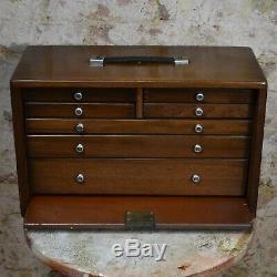 Ingénieurs Union Antique Banque De Tiroirs Draughtmens Atelier Coffre À Outils Cabinet
