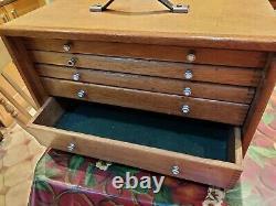 Ingénieurs/outilleurs Vintage/ Armoire/coffre En Bois/boîte À Outils/tiroirs