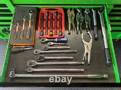 Mac Tools Tech Series 19 Tiroir Triple Bank Roller Armoire À Roulettes En Vert Extrême