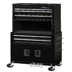 Mécanique 5 Tiroir Rolling Tool Coffre Cabinet Combo Riser Garage Rangement Nouveau