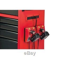 Milwaukee Coffre À Outils À 8 Tiroirs À Roulettes De Rangement, Rouge, Noir, Texturé, 46 Po