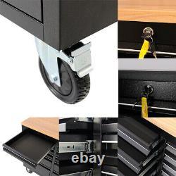 Mobile Tool Chest Box Armoire Tiroir De Stockage Rolling Organizer Garage Workbench