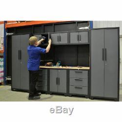 Modulaire Cabinet Set Atelier Garage Tiroir De Rangement Étagère Murale Armoire Meubles