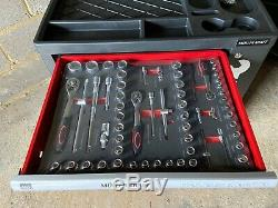 Muller Kraft 6 Tiroirs Et Côté Coffre À Outils De Verrouillage Cabinet Avec 245 Outils