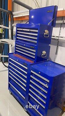 Nous Pro Blue Tools Stacked Steel Chest Tool Box Roller Cabinet