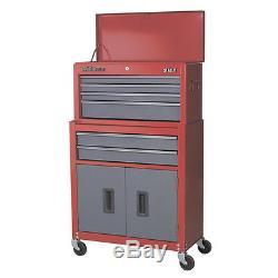 Nouveau Sealey Red American Pro Boîte À Cabine De Rangement / Boîte À Outils À 6 Tiroirs Ap2200bb