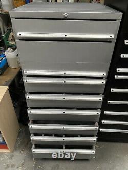 Original 8 Tiroir Argent Lista Tool Cabinet Partie Rénovée