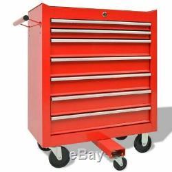 Outil Atelier Verrouillables Chariot Porte-outils Armoire De Rangement Garage Avec 1125 Outils En Acier