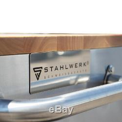Outil Chariot Atelier Stahlwerk Panier Rouleau Boîte De Poitrine Avec 6 Tiroirs 2 Portes