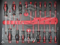 Outil Chariot Avec Cabinet Outils Atelier Acier Coffre De Rangement Porte-toolbox Rouge