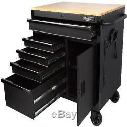 Outil Mobile Coffre Workbench 5 Tiroirs 1-porte Cabinet Haut Travail En Bois Surface 36