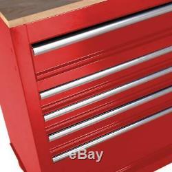 Outil Mobile Workbench Coffre À Outils Cabinet De Travail En Bois Surface 46. 9 Tiroirs