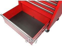 Outil Roulant Coffre Rouge Cabinet De Rangement 6 Tiroirs X-large Roulement À Billes De Fond