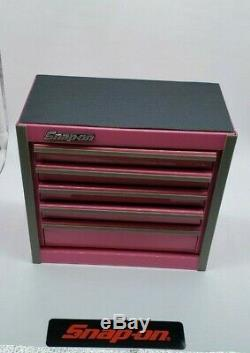 Outil Snap-on Boîte Miniature En Bas Staionary Cabinet Rose Nib 5 Tiroirs