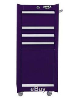 Outil Viper 4 Tiroirs De Roulement En Acier Boîte À Outils Coffre Cabinet Violet
