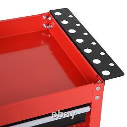 Panier De Rangement D'outils Portable Atelier Trolley Armoire Garage Tiroir D'alimentation Roues
