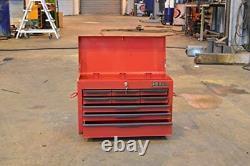 Poitrine D'outils Nouveau Hilka Red 9 Tiroir En Métal Garage Outils Boîte De Rangement Cabinet Unité