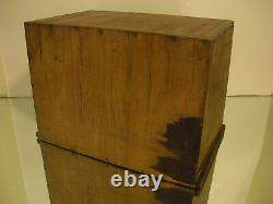 Premier Primitif Antique Petit 4 Tiroir Outil De Couture Coffret Cabinet Box 10 3/4