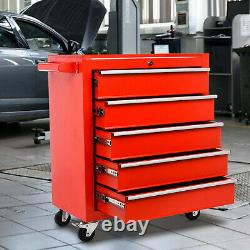 Pro 5 Tiroirs Outil En Métal Coffre De Rangement Rollcab Boîte Roller Cabinet