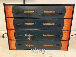 Rare Vintage Wagner Lockheed Pièces Outil Tiroirs Coffret Boîte Plateau Original 920