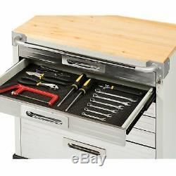 Roulement En Acier Inoxydable Heavy Duty Boîte À Outils Cabinet Workbench 6 Tiroirs Séville
