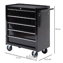Roulement Outil Organisateur Chariot En Acier Tiroirs Rangement Chest Trolley Cabinet Garage