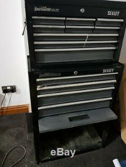 Sealey American Pro 13 Tiroirs Rouleau Cabinet Et Coffre À Outils Noir / Gris