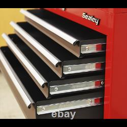 Sealey Ap2200bb Topchest & Rollcab Tool Box Combo 6 Glissements De Roulement À Billes À Tiroirs