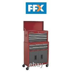 Sealey Ap2200bb Topchest Roller Cabinet 6 Tiroir Rouge/gris