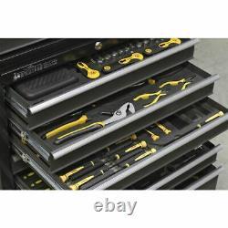 Sealey Ap3508tb Rollcab 8 Tiroir Avec Roulement À Billes Diapositive Noir/gris
