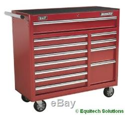 Sealey Ap41120 12 Tiroir-rouge Rouleau Cabine Rouleau Cabinet Chest Boîte À Outils Extra-large