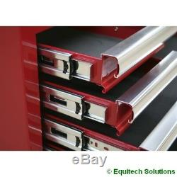 Sealey Ap5213t Rouge 13 Tiroirs Boîte À Outils Rollcab Roulement À Billes Runners Diapositives Nouveau