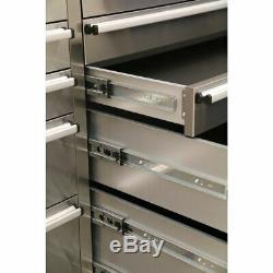 Sealey Ap7210ss Outil Mobile En Acier Inoxydable Cabinet 10 Tiroirs Et Armoire