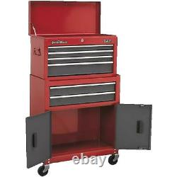 Sealey Heavy Duty Topchest & Rollcab 6 Tiroirs 75mm Castors Roulements Coulissants