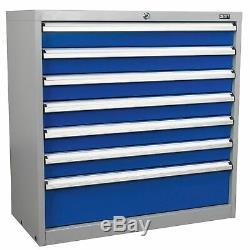 Sealey Industriel Garage Stockage D'outils / Unité De Stockage Cabinet 7 Tiroirs Api9007