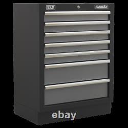 Sealey Modular 7 Drawer Tools Floor Cabinet 680mm Apms62 Atelier Garage Noir