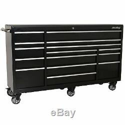 Sealey Porte-outils Rollcab Ultra-résistant Pour Le Stockage Des Outils, Cabine De Travail 15 Tiroirs 1845mm Ptb183015