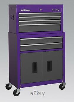 Sealey Purple American Pro 6 Outils, Tiroir De Rangement, Coffre, Cabine, Coffre, Coffre Ap2200bbcp
