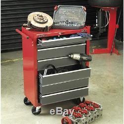 Sealey Red 7 Tiroirs Cabine Roulante Cabine Roulante Dessous En Métal Toolbox Coffre Ap22507bb
