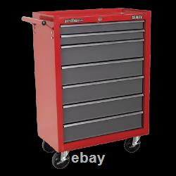 Sealey Rollcab 7 Tiroir Avec Glissières À Roulement À Billes Rouge/gris Ap22507bb