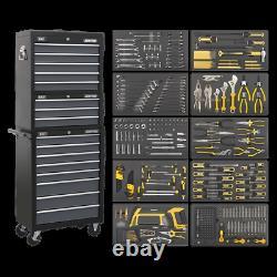 Sealey Tool Coffre Combinaison 16 Tiroir Avec Roulement À Billes Diapositive Noir/gris &