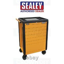 Sealey Tools Trolley 7 Push Open Tiroir Roller Cabinet Boîte À Outils Garage Atelier