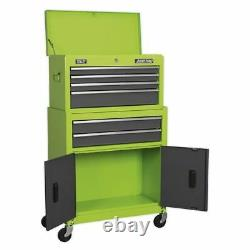Sealey Topchest & Rollcab Combo 6 Tiroir- Hi-vis Green/grey Ap2200bbhv