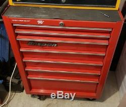 Snap On 26 Pouces Rouleau Cabine Boîte À Outils Red 7 Tiroirs Cabinet