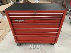 Snap On Used Red Tool Box Roll Cab Cabinet 7 Tiroirs 40 Largeur